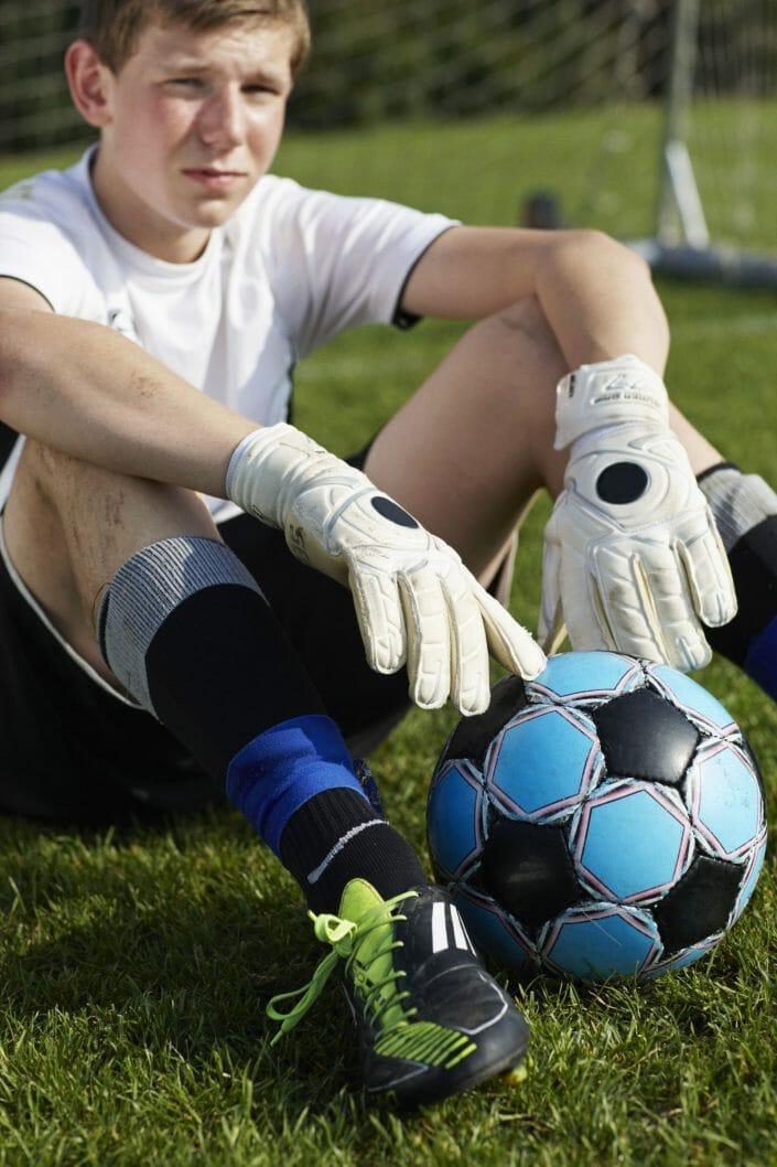 Fotografering til billedbank, fodboldspiller ©Fotorgafering Ida Schmidt