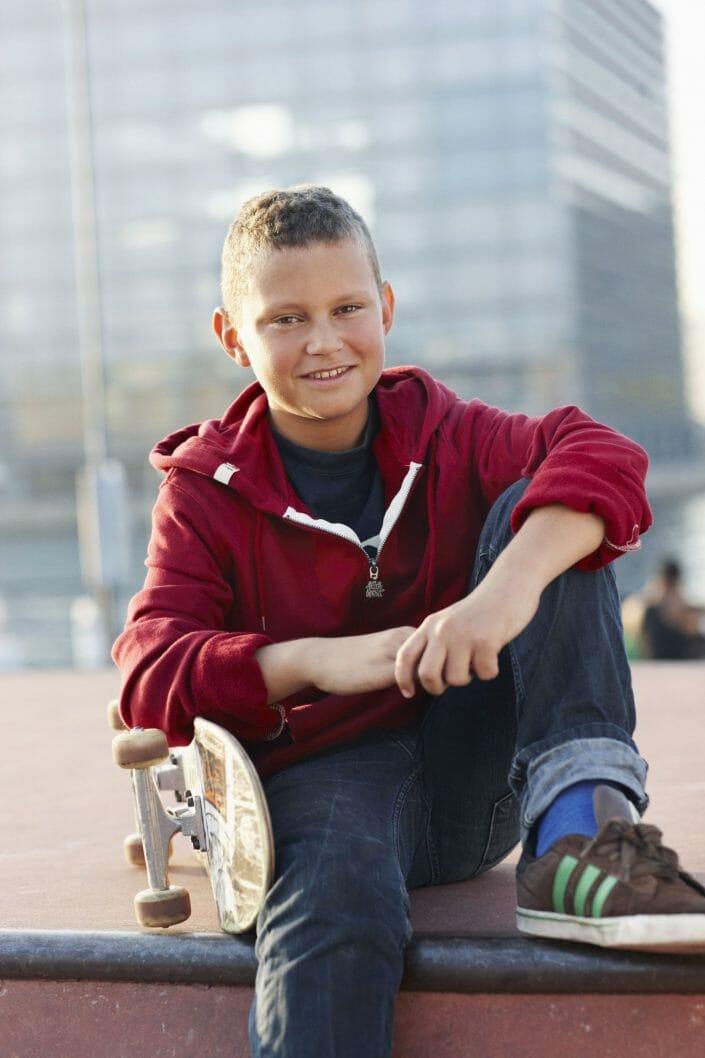 Fotografering til billedbank, skateboard dreng © Foto Ida Schmidt